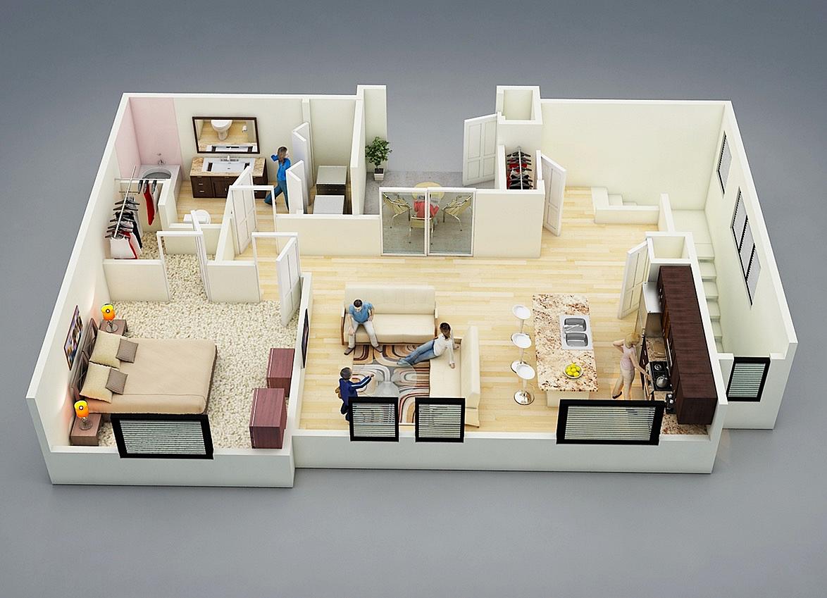 10 sjajnih planova za jednosoban stan
