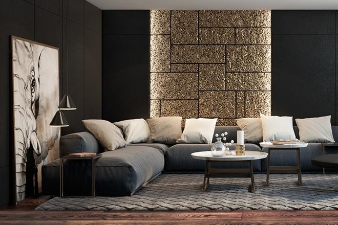 5 inspirativnih ideja za dnevnu sobu u crnoj boji