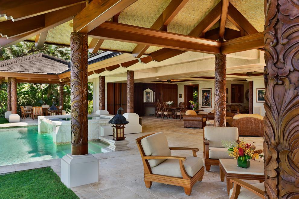 7 sjajnih na ina da iskoristite potporni stub u enterijeru - Tropical outdoor kitchen designs ...