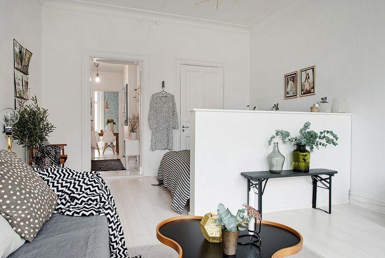 Funkcionalan jednosoban stan u skandinavskom stilu