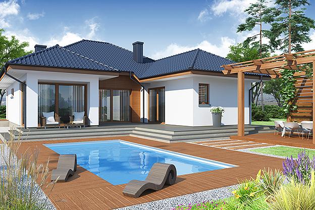 Atraktivna prizemna ku a sa gara om detaljan plan for Modele de case fara etaj cu terasa