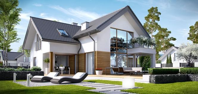 Komforna ku a sa potkrovljem i gara om detaljan plan for Einfamilienhaus modelle