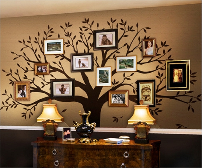 Kreativne zidne dekoracije u obliku drveta